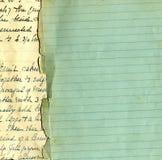 Vieux papier grunge avec des lignes Images libres de droits