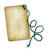 Vieux papier grunge avec le fond d'isolement par corde illustration libre de droits