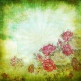 Vieux papier grunge, configuration de fleur Photos libres de droits