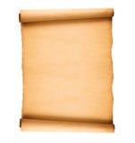Vieux papier mis en rouleau Photographie stock libre de droits