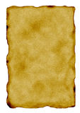 Vieux papier/page brûlés Images stock