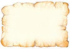 Vieux papier parcheminé Photo stock