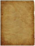Vieux papier parcheminé Image stock