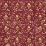 Vieux papier peint sale de roses Image libre de droits