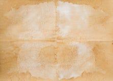 Vieux papier plié image stock