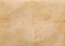 Vieux papier plié photographie stock libre de droits