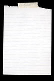 Vieux papier rayé blanc. Photographie stock