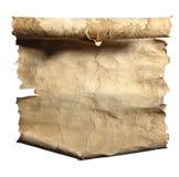 Vieux papier roulé Photographie stock