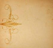 Vieux papier sur l'ornement Image stock