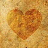 Vieux papier sur le coeur Photos libres de droits