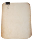 Vieux papiers avec l'agrafe Image stock