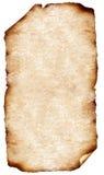 Vieux papiers avec les bords brûlés Images libres de droits