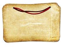 Vieux papiers grunges avec le fond d'isolement par corde illustration de vecteur