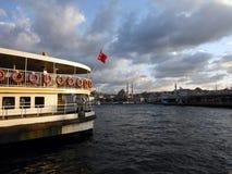 Vieux paquebot turc sur le klaxon d'or, Istanbul Photographie stock