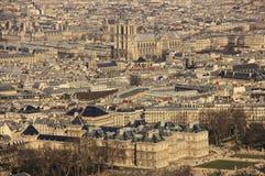 Vieux Paris - panorama de ville Photographie stock