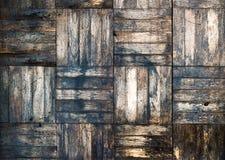 Vieux parquet de bouleau Image libre de droits