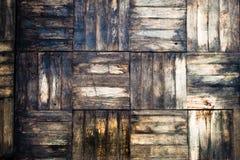 Vieux parquet de bouleau Photo stock