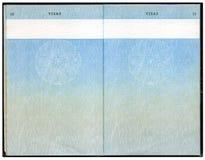 Vieux passeport britannique Image stock