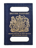 Vieux passeport britannique Photos stock