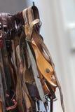 Vieux patins de glace en bois hollandais historiques Photo libre de droits