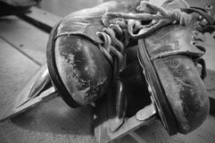 Vieux patins de vintage photographie stock