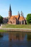 Vieux paysage de temps de jour de ville de Kaunas Photographie stock libre de droits