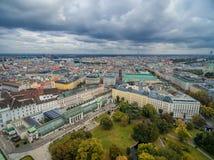 Vieux paysage urbain de ville de Vienne l'autriche image stock