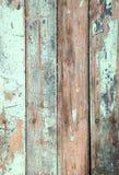 Vieux pe bleu naturel en bois superficiel par les agents de peinture de turquoise Images libres de droits
