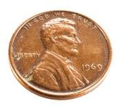 Vieux penny Photographie stock