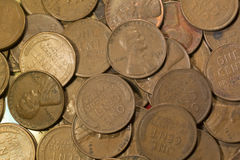 Vieux penny de cuivre de blé Image libre de droits