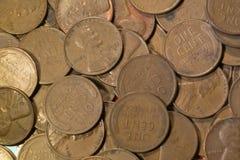 Vieux penny de cuivre de blé Photo libre de droits