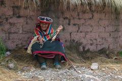 Vieux Peru Woman, personnes péruviennes Photographie stock