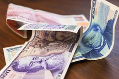 Vieux peso mexicain avec Benito Juarez Monnaie fiduciaire images stock