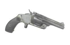 Vieux petit pistolet de poche d'isolement Images stock