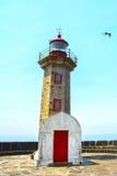 Vieux phare à Porto, Portugal Photographie stock