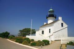 Vieux phare à San Diego Photo libre de droits