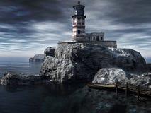 Vieux phare Photos stock