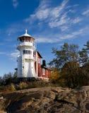 Vieux phare blanc Photo libre de droits