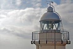 Vieux phare dans la côte Image libre de droits