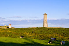 Vieux phare dans Wicklow, Irlande. image libre de droits