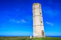 Vieux phare de Flamborough image stock