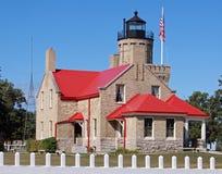 Vieux phare de point de Mackinac Images libres de droits