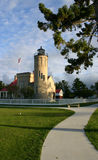 Vieux phare de point de Mackinac Image libre de droits