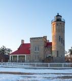 Vieux phare de point de mackinaw Image libre de droits