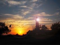 Vieux phare Grèce de Posidi photo libre de droits