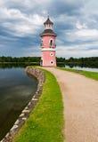 Vieux phare, Moritzburg Photo stock