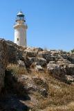 Vieux phare rouillé Photo stock