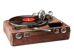Vieux phonographe photo stock