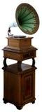 Vieux phonographe d'isolement sur le fond blanc Photos stock