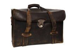 Vieux photobag en cuir Photo libre de droits